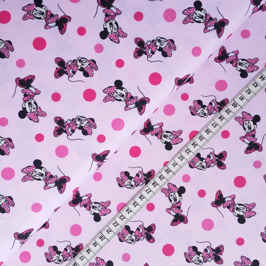 baumwolldruck minnie maus rosa 100 baumwolle tr ume aus stoff. Black Bedroom Furniture Sets. Home Design Ideas