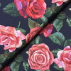Jersey * Painted Roses schwarz * Digitaldruck