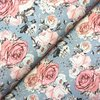 Jersey * Lovely Roses auf grau