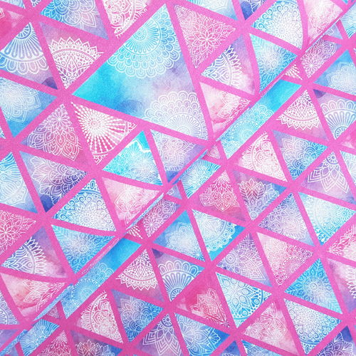 "Jersey * Ornamente ""Triangle"" pastell/pink"