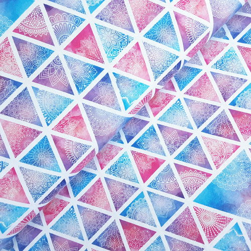 "Jersey * Ornamente ""Triangle"" pastell/weiß"