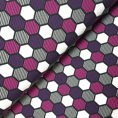 Sommersweat * Crazy Shapes by Lycklig Design * Waben pink