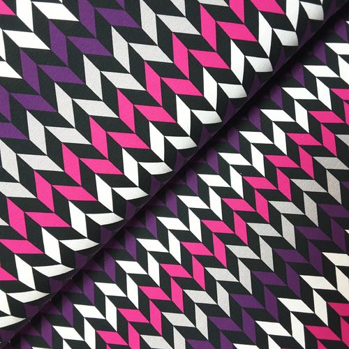 Sommersweat * Crazy Shapes by Lycklig Design * Fischgrat pink
