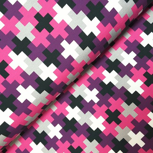 Sommersweat * Crazy Shapes by Lycklig Design * Kreuze pink