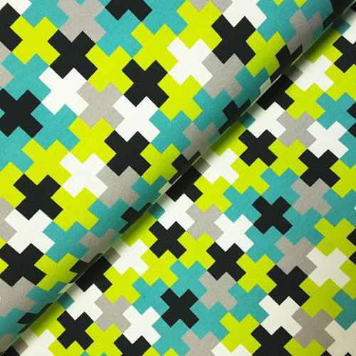 Sommersweat * Crazy Shapes by Lycklig Design * Kreuze kiwi