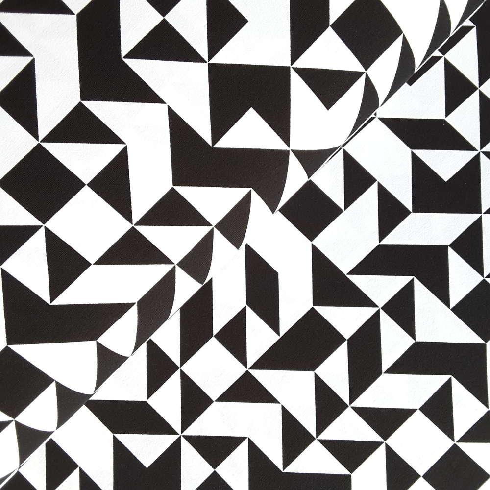 Jersey Mixed Triangles Schwarz Weiß Träume Aus Stoff