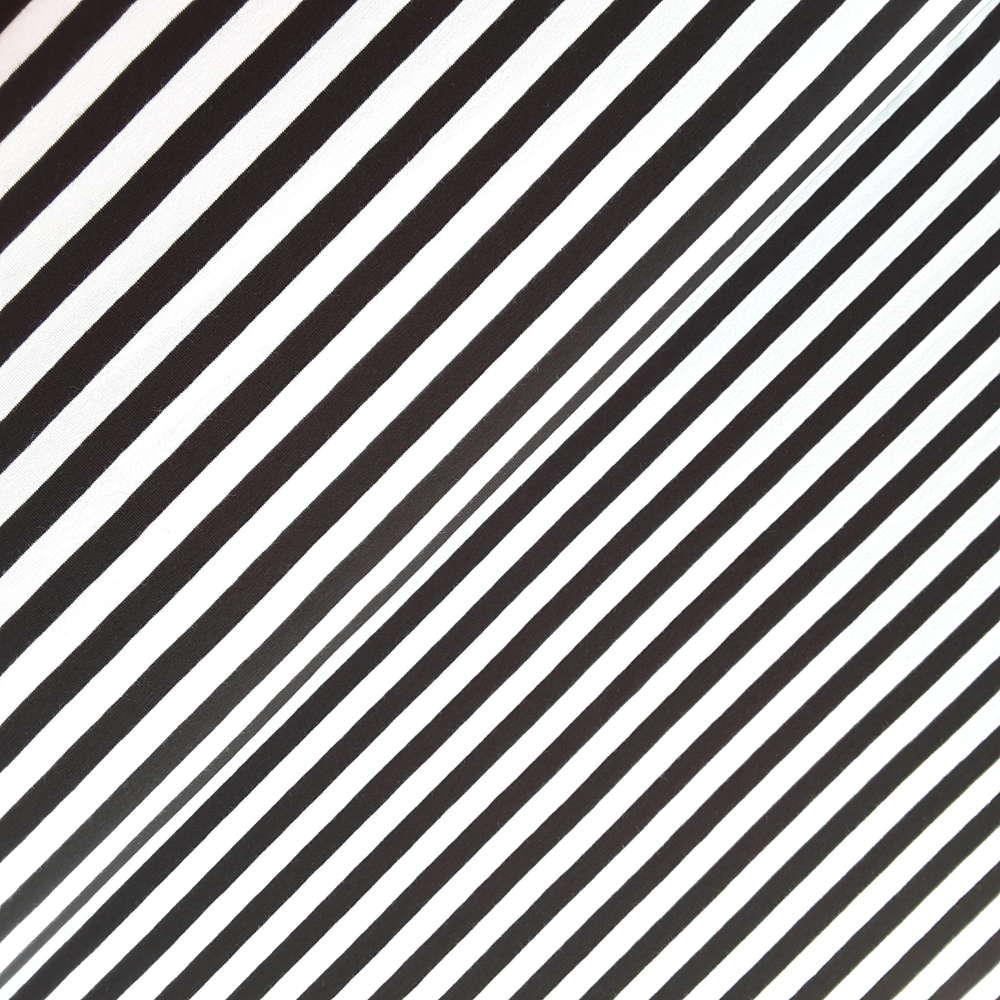 Jersey Streifen Schwarz Weiß 10mm