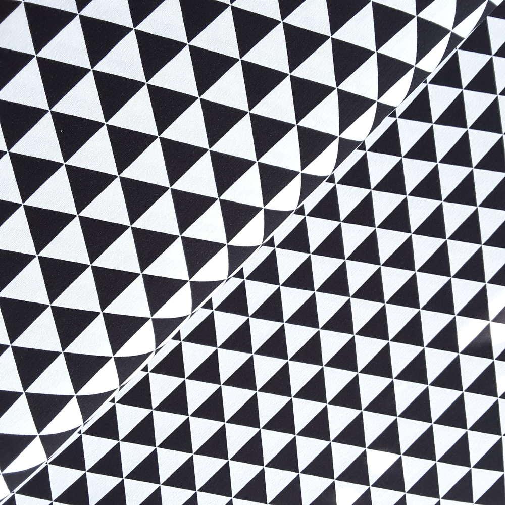 Jersey Dreiecke Schwarz Weiß