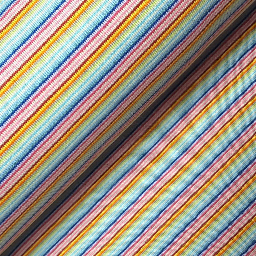3mm Jersey Streifen Kinderstoff Multicolour // SCHWARZ
