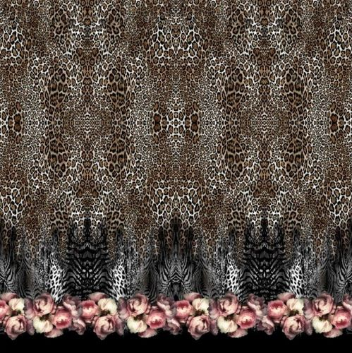 Jersey * Panel * Roses & Animalprint * 150x150cm