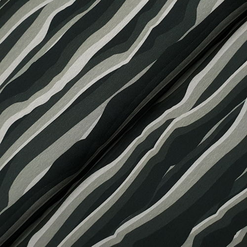 "Jersey ""Wavy Stripes by Lycklig Design"" schwarz grau"