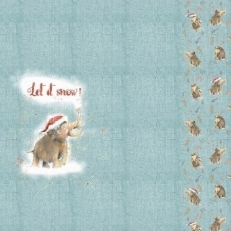 "Sommersweat ""Let It Snow"" Panel * Lillestoff * Bio-Baumwolle"
