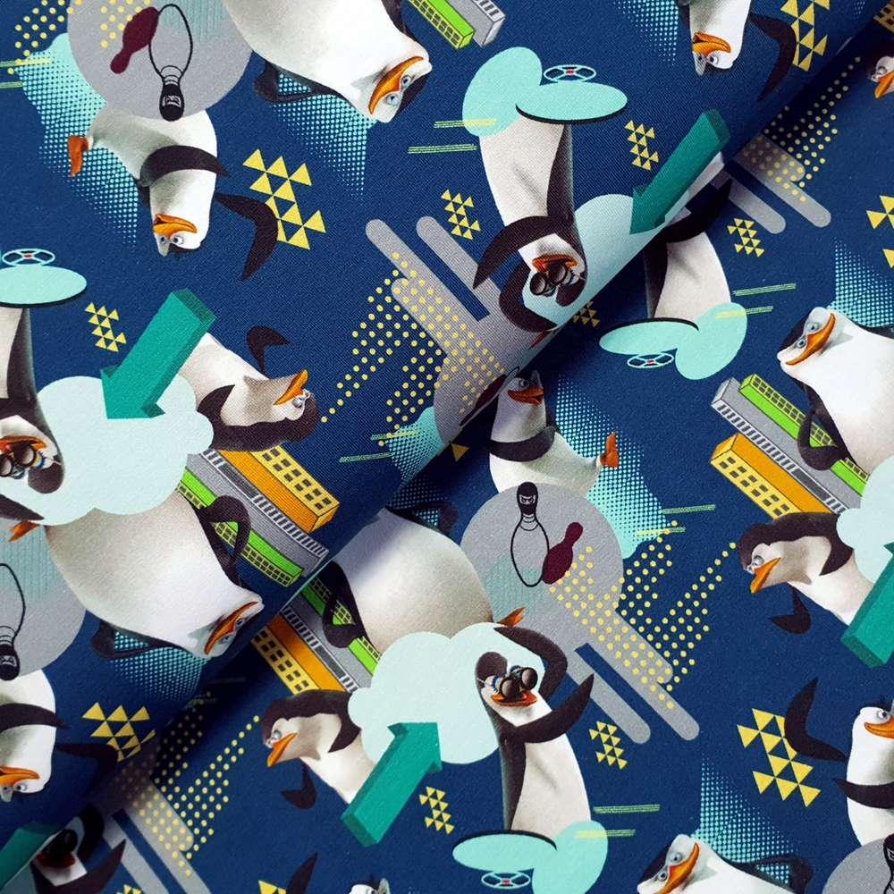 Jersey  Stoff Digitaldruck Pinguin 1m